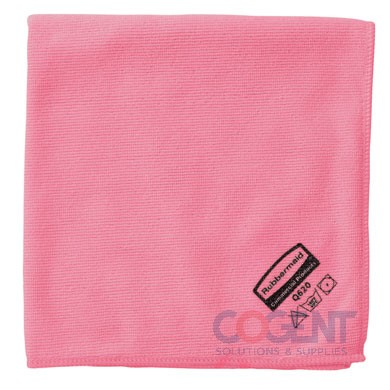 Microfiber cleaning Cloth RED 16x16 Reusable  12/cs  Q620RED