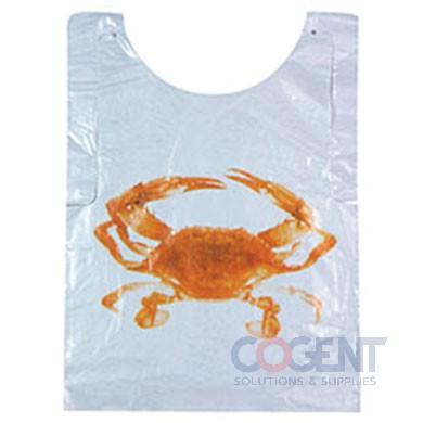 Adult Bib Poly Crab w/Neck Ties 5/500/cs  2.5m/cs