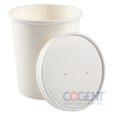 Food Cont 32oz Wht Paper Combo w/Lid 250/cs   PFC32WCOM     RP