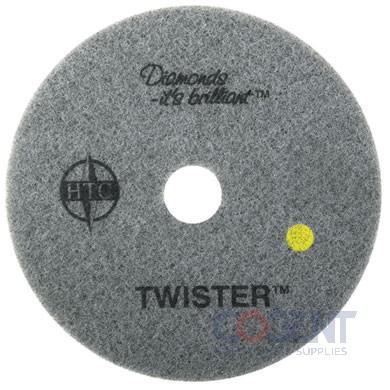 "Floor Pad 15"" Ylw 1500 Grit Twister 2ea/cs 435415       AMG"