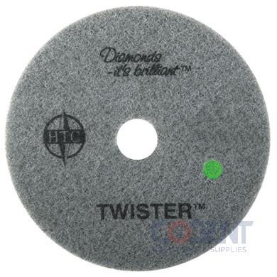 """Floor Pad 15"""" Grn 3000 Grit Twister 2ea/cs 435515       AMG"""