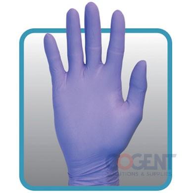 Gloves XL Indigo Blue Nitrile 10/100/cs SAF