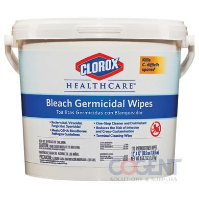 Clorox Germicidal Wipes 12x12 White  110ct  2/case  30358