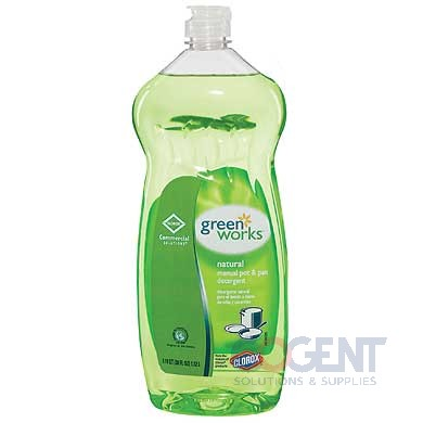 GreenWorks Pot & Pan Dish Soap Liquid 38oz Btl 8/cs 30381