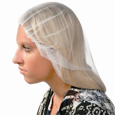 """Hairnet Polyester 21"""" White 100/bx 10bx/cs DPHN-21-1B SAF"""