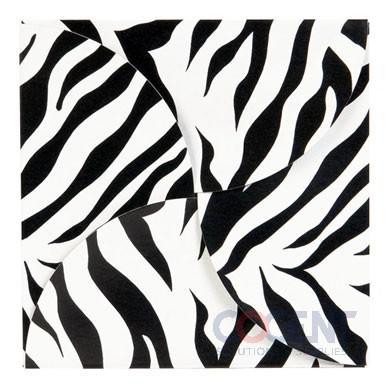 Gift Card Folder Zebra Stripes w/Silver Holder 100/cs