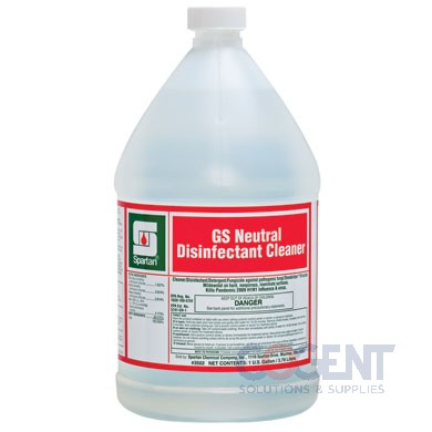 Green Solutions Neutral Disinfectant Cleaner 4gl/cs