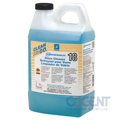 BioRenew Glass Cleaner 18 2ltr COG 4-2ltr/cs 4835