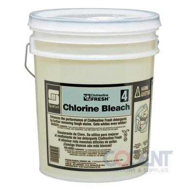 Chlorine Bleach 04 5gal Clothesline Fresh 5gal/pl  7004