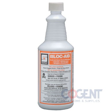 Bloc-Aid Drain/Sewer Cleaner 12-32oz/cs
