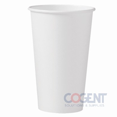 Hot Cup Paper White 16oz SingleSidePoly 1m/cs