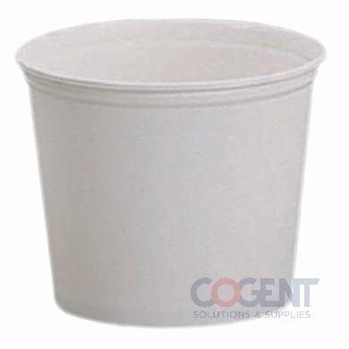 Paper Bucket White 83oz Unwaxed 100/cs