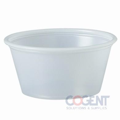 Portion Cup 2oz Translucent 2500/cs