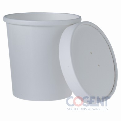 Cont Hot/Cold Combo Paper 16oz w/Vented Lid White 250/cs