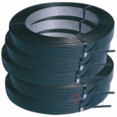"Steel Strapping 1-1/4""x.031 RBW 5500lb 7.6'/lb 105lb/cl 12/plt"