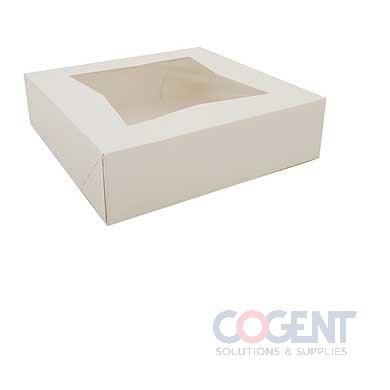 Bakery Box 9x9x2.5 Window Wht SBS Auto 200/cs 24133        SC