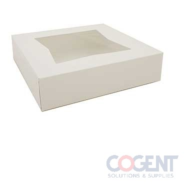 Bakery Box 10x10x2.5 White Auto Window 200/cs 24233          SC