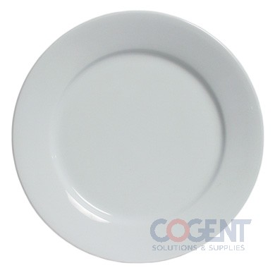"Plate 9"" Alaska-Rolled Edge White China 8/PACK EBR"