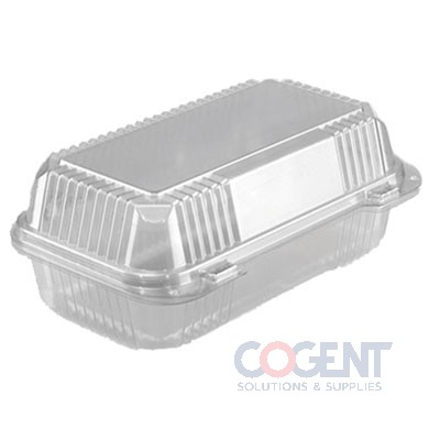 Pound Cake Clear Hinged Lid Container 290/cs OPS     Pactiv