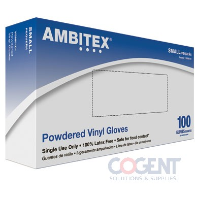 Glove Vinyl Large Powdered 1m/cs VLG5101
