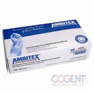 Glove Vinyl Medium  PF Blue 4mil 1m/cs  VMD5201B        TDX
