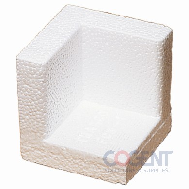 Corner Block 3.25x3.25x1.5 Wht Foam 672/cs FCB2        PCA