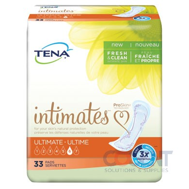 Intimates Ultimate Pads 4/10  40/CS   54427 TENA