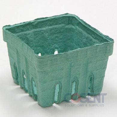 Berry Basket Pint Sq Grn Pulp 420/cs YM33-6126             PV