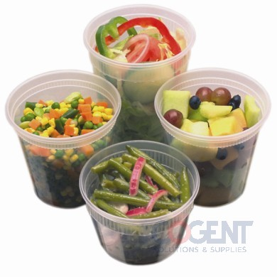 Container Combo 8oz Plastic Clear w/Lid 240/cs