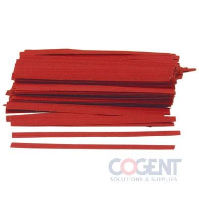 Twist Tie 1/2x12 Red Silver Organic Print 3m/cs          TT