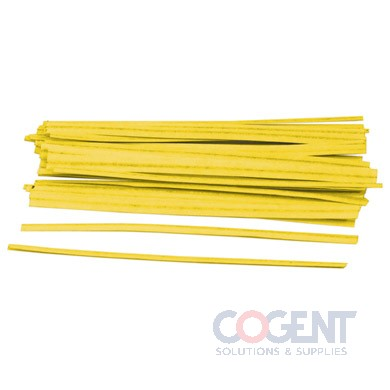 Twist Tie 1/2x12 Yellow Black Organic 10.2M/CS             TT