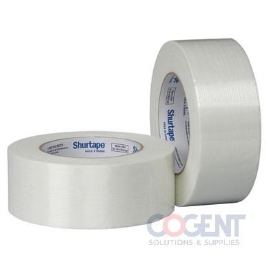 "Filament Tape 2""x60yd Wht Med Duty GS 501 24rl/cs     SHU"