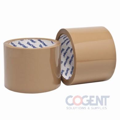 "Box Tape 3""x1000yds 72mmx914m 1.9mil HP200 Tan 4rl/cs     SM"