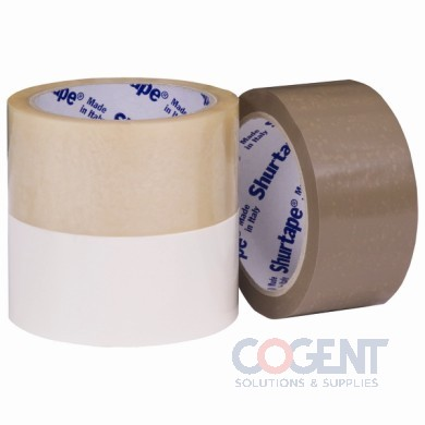 "Box Tape 2""X55yds 48mm x50m 2.1mil PVC White 36rl/cs"
