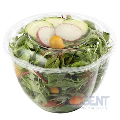 Salad Bowl 48 oz Clear Compostable 300/cs WOR