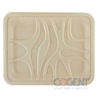 Food Tray Fiber 9x7x.65 PLA PLA Lined 500/cs LEAF        WC