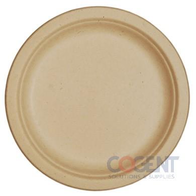 """Plate 7"""" SugarCaneFiber Biodegradable Unbleached 1m/cs"""