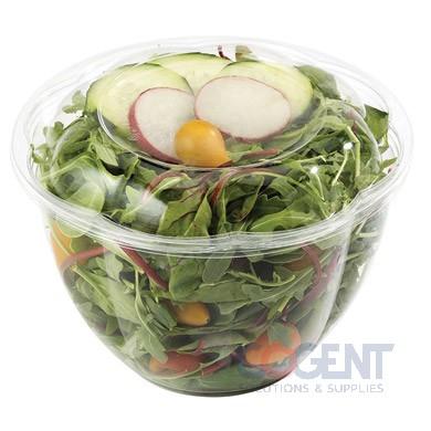 PLA Dome Lid for Salad Bowl 24-48oz Round 600/cs SBL-CS-32