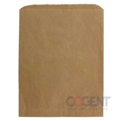 Bag Merchandise 10x2x15 100% Rec Natural Kraft 30# 1m/cs