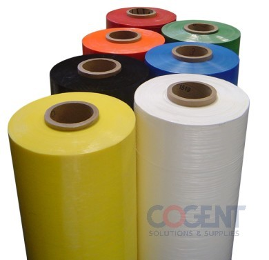 "Stretch Film 18""x1500' 80 Gauge Yellow Identi 4rl/cs"