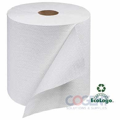 "Hardwound Towel 7.88""x800' Wht H21 1ply 6rls/cs  RB8002    TRK"